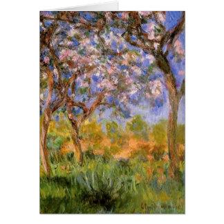 Giverny en primavera tarjeta de felicitación