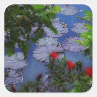 Giverny Garden Square Sticker
