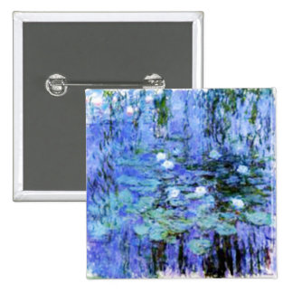 giverny lily pond by the master Monet Pinback Button