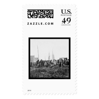 Giving Aid Christian Commission in VA 1862 Stamps
