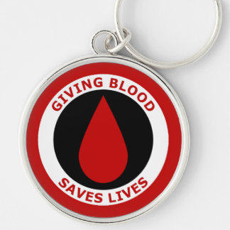 Giving Blood Saves Lives Keychain