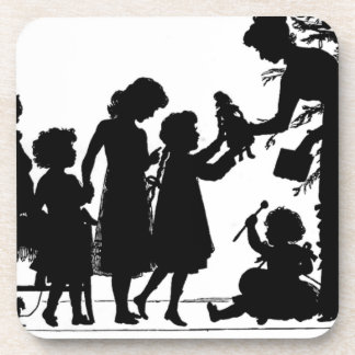 Giving Christmas Gifts Beverage Coaster
