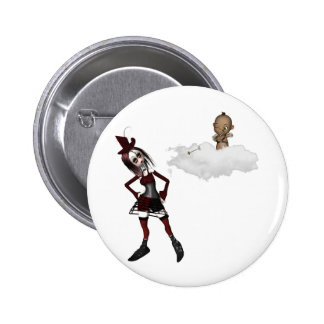 giving cupid attitude punk anti vday buttons