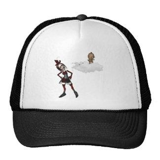 giving cupid attitude punk anti vday trucker hat