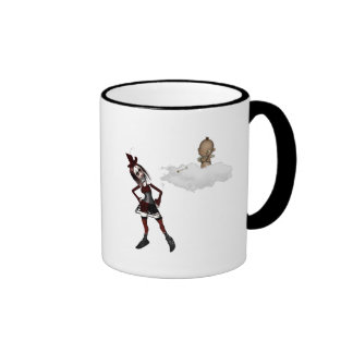 giving cupid attitude punk anti vday ringer mug