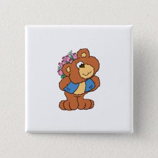 giving flowers valentine romance teddy bear button