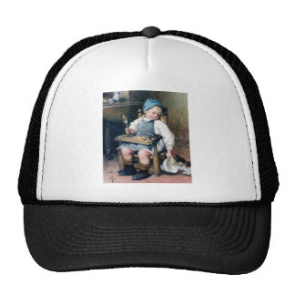 Giving Food to Kitten antique painting Trucker Hat