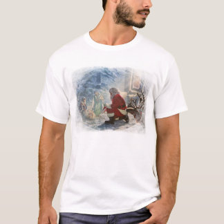 """Giving Homage"" men's T-shirt with santa"