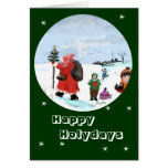Giving in the snow… greeting map greeting card