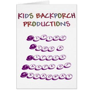Giving Kids a Little Taste of Broadway cards