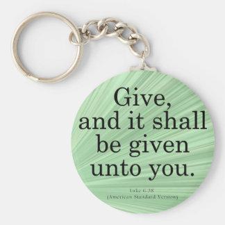 Giving Luke 6-38 Keychain
