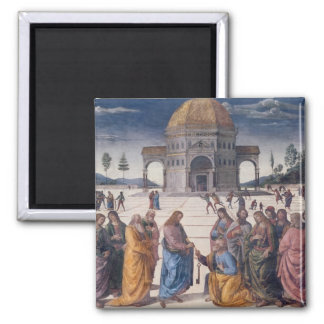 Giving of the Keys to St. Peter 2 Inch Square Magnet