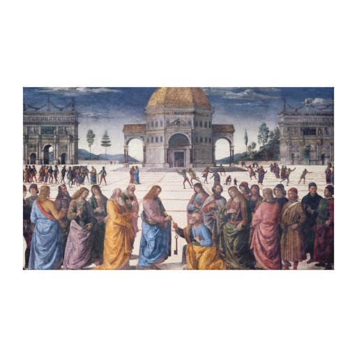 Giving of the Keys to St. Peter Stretched Canvas Print