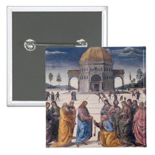 Giving of the Keys to St. Peter Pinback Buttons