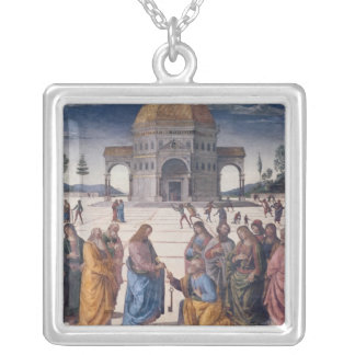 Giving of the Keys to St. Peter Square Pendant Necklace