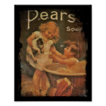 Giving Puppy a Bath with Pears Soap Poster