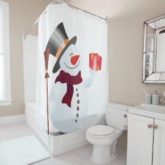 Giving Snowman... Shower Curtain