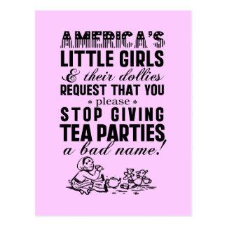 Giving Tea Parties A Bad Name Postcard