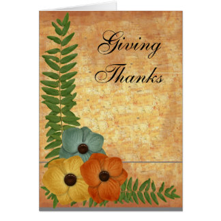 Giving Thanks- 1 - add your own text Greeting Card