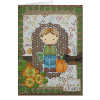 Giving Thanks -1 Greeting Cards