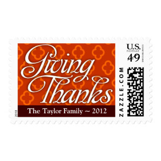 """Giving Thanks"" (Custom) Postage Stamp"