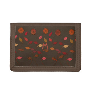 Giving Thanks Flower Fall Floral Monogram Wallet