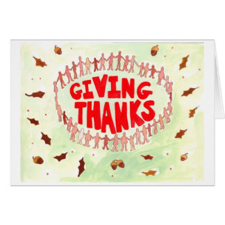 Giving Thanks from a Nudist Camp Card