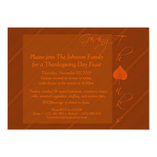 Giving Thanks 4.5x6.25 Paper Invitation Card