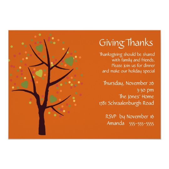 Giving thanks thanksgiving dinner party invitation zazzle giving thanks thanksgiving dinner party invitation stopboris Image collections