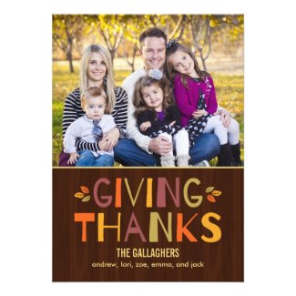 Giving Thanks Thanksgiving Photo Cards