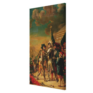 Giving the Chain of the Order of Saint-Michel Canvas Print