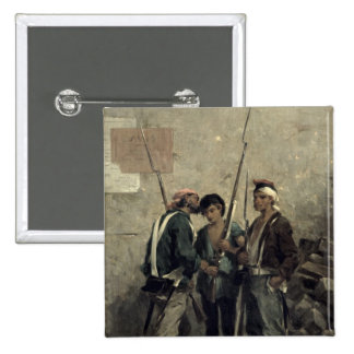 Giving the Order, 24th February 1848 2 Inch Square Button