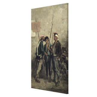 Giving the Order, 24th February 1848 Canvas Print