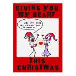 GIVING YOU MY HEART CHRISTMAS CARD