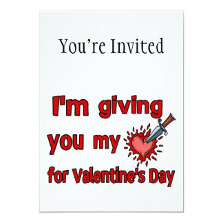 Giving You My Heart For Valentine's Day Card