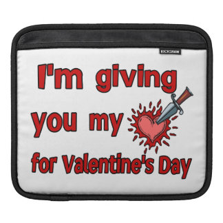 Giving You My Heart For Valentine's Day Sleeve For iPads