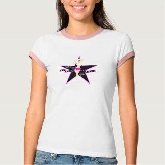 GixxerGirl Roxie Star Ringer Tee