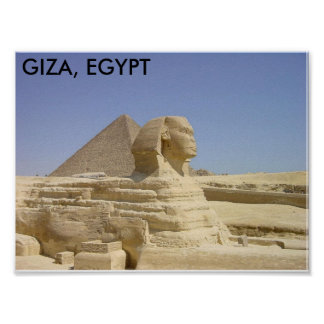 GIZA, EGIPTO PÓSTER