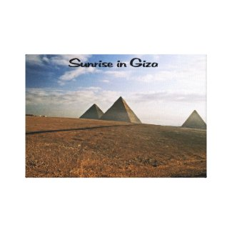 Giza Egypt Sunrise Canvas Print