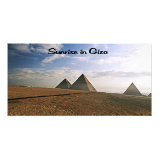 Giza Egypt Sunrise Card