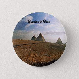 Giza Egypt Sunrise Pinback Button