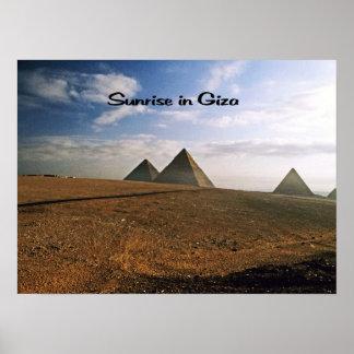 Giza Egypt Sunrise Poster