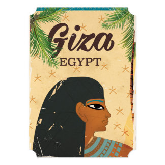 Giza, Egypt vintage style travel poster Card