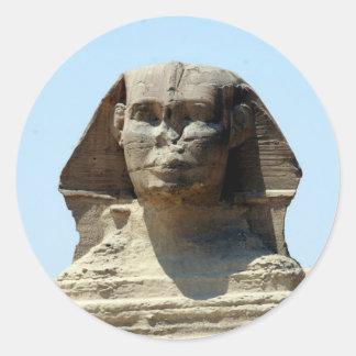 giza great sphinx classic round sticker