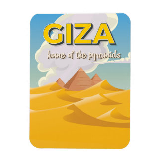 Giza - Home of the pyramids travel poster Magnet