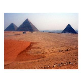 giza plateau postcard