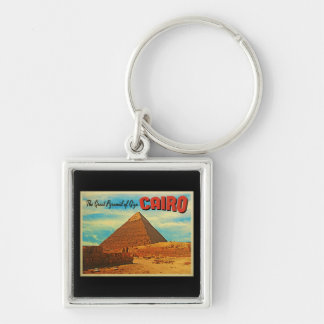 Giza Pyramid Cairo Egypt Keychain