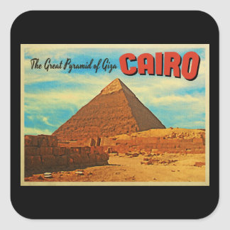 Giza Pyramid Cairo Egypt Square Sticker