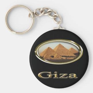 Giza Pyramids Designs Keychain