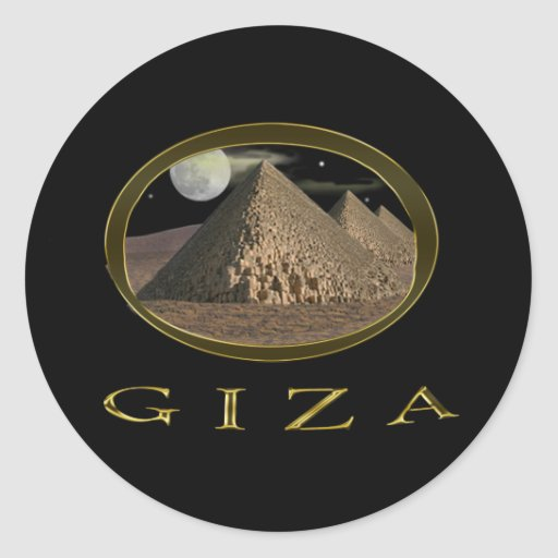 Giza Pyramids Items Classic Round Sticker